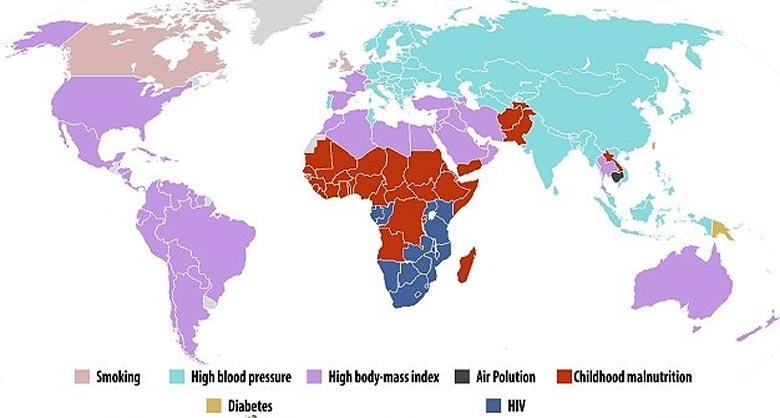 Основные причины смертности в мире среди женщин