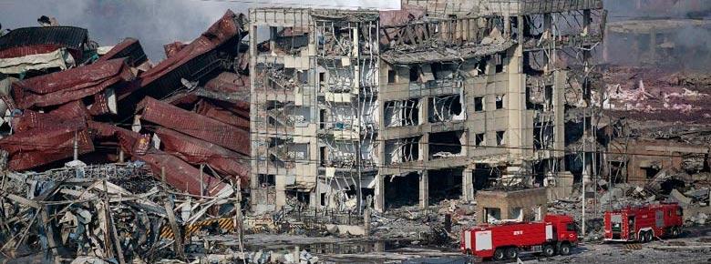 взрыв в порту Тяньцзинь