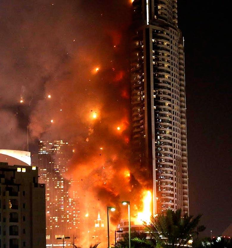 отель в дубае сгорел фото увезенной