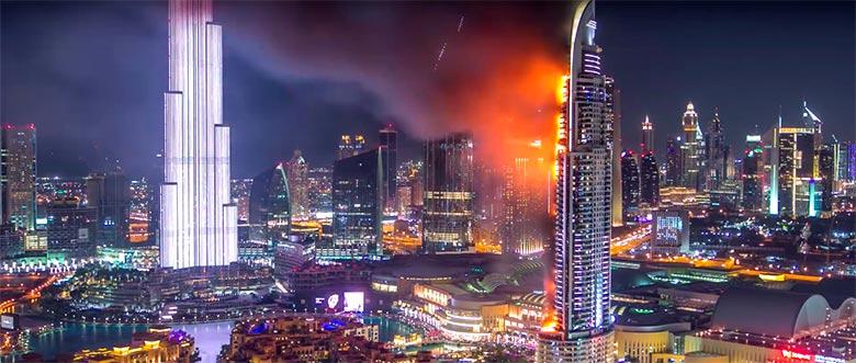 Address Hotel Downtown Новогодняя свечка стоимостью $463 млн