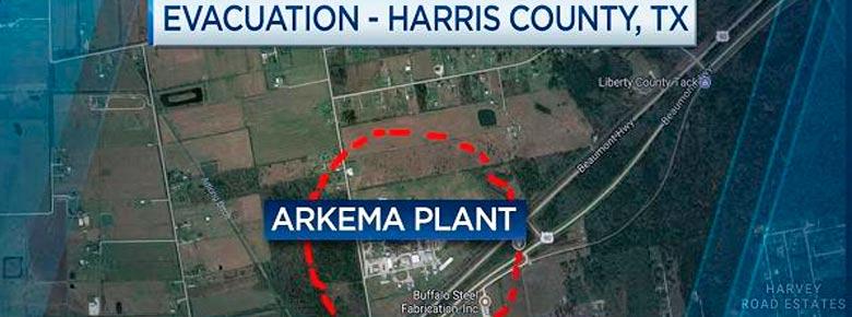 взрыв на химзаводе в городе Кросби в Техасе