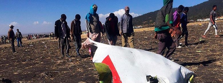 В результате крушения Boeing 737 в Эфиопии погибло 157 человек