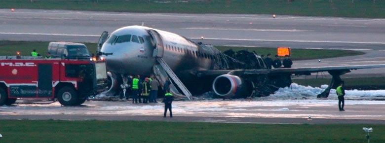 В результате жёсткой посадки самолета SSJ-100 в Шереметьево