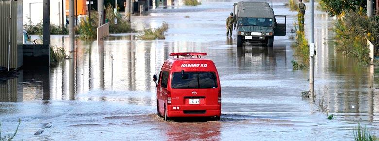 убытки от тайфуна Хагибис в Японии