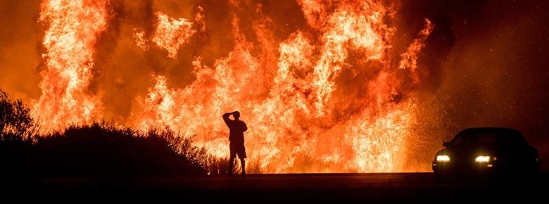 Убытки страховщиков от лесных пожаров в Калифорнии могут составить $5-8 млрд.