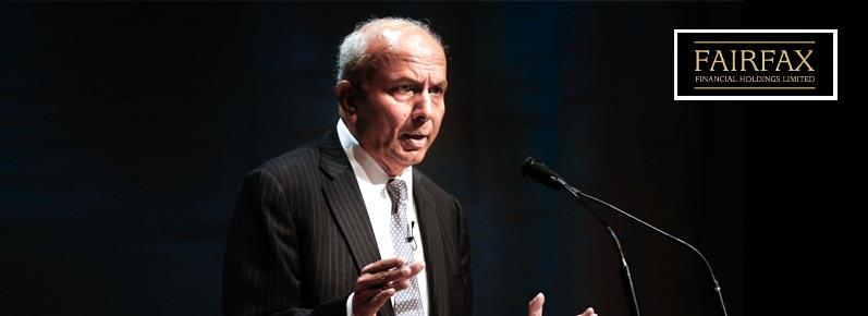 Прем Ватса, председатель и главный исполнительный директор Fairfax Financial Holdings