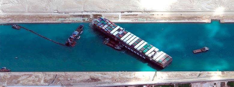 Ответственность владельца контейнеровоза Ever Given, блокировавшего Суэцкий канал, была застрахована на $100-140 млн.