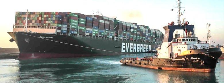 Британский P&I Club урегулировал убыток от блокировки Суэцкого канала контейнеровозом «Ever Given»