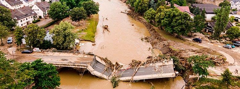 Убытки страховщиков от июльского наводнения в Европе оценивается RMS